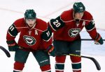 Zach Parise (11) and Ryan Suter will be relied upon heavily once Minnesota starts the playoffs on Thursday. (Photo credit to whitecovermag.com)