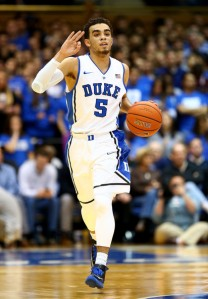 Tyus Jones had a great freshman season at Duke. How will he translate to the NBA, though? (Photo credit to Zimbio.com)