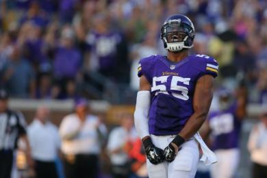 Anthony Barr will look to improve on his stellar rookie season in 2015. (Photo credit to BleacherReport.com)