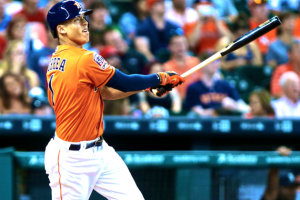 Carlos Correa got off to a hot start in his major league career. He is currently the favorite to win American League Rookie of the Year. (Photo credit to bleacherreport.net)