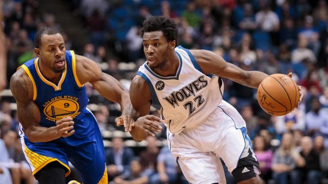 Andrew Wiggins and the Minnesota Timberwolves look like the team with the highest upside in the NBA. (Photo credit to a.fssta.com)