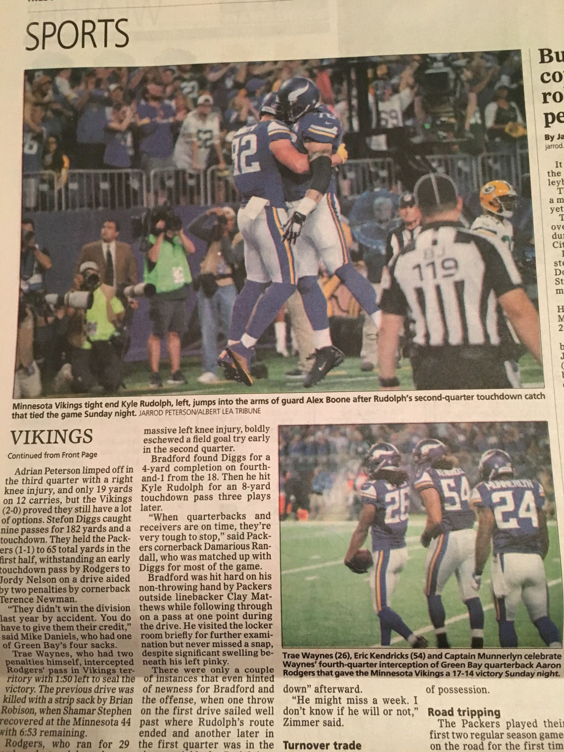 Some pictures I took that ran in the sports section of The Albert Lea Tribune.